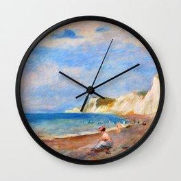 Pierre-Auguste Renoir - The Beach Of Varengeville - Digital Remastered Edition Wall Clock