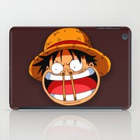 luffy iPad Cases featuring Luffy & Nose Sticks! by Orfik