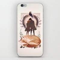 mulder iPhone & iPod Skins featuring Fable of Mulder and Scully by tumblebuggie