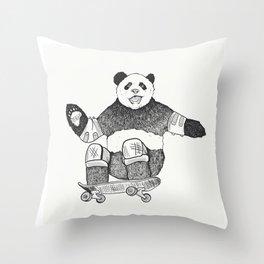 Rad Panda Throw Pillow