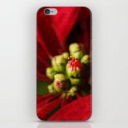 Christmas Poinsettia iPhone Skin