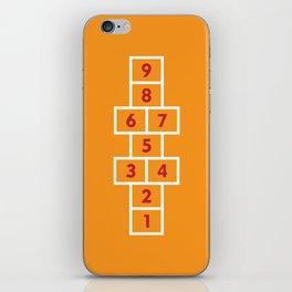 Hopscotch Orange iPhone Skin