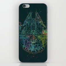 Millennium Falcon Painters Schematic iPhone & iPod Skin