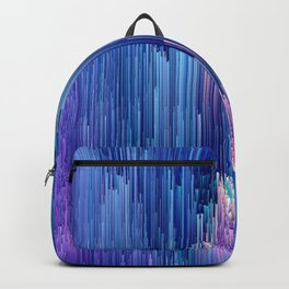 Beglitched Waterfall - Abstract Pixel Art Backpack