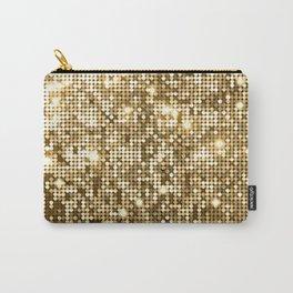 Golden Metallic Glitter Sequins Carry-All Pouch
