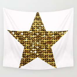 Sparkling Star,golden Wall Tapestry