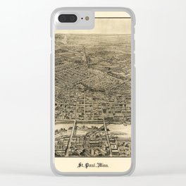 Aerial View of Saint Paul, Minnesota (1906) Clear iPhone Case