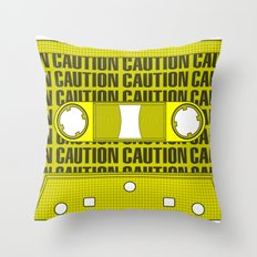 Caution Tape Throw Pillow