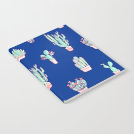 Little cactus pattern - Princess Blue Notebook