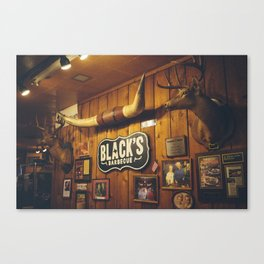 Black's Barbecue Canvas Print
