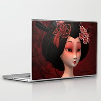 geisha Laptop & iPad Skins featuring Geisha by Heidy Curbelo