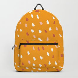 Abstract Speckled Dots Modern Pattern, Yellow Backpack