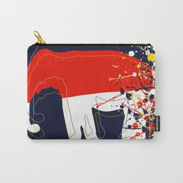 abstract, action painting, elephant Carry-All Pouch