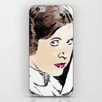 leia iPhone & iPod Skins featuring Leia by Hey!Roger