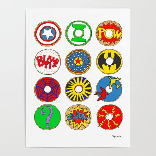 Superhero Donuts by notsniw
