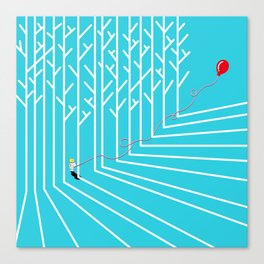 Astro Balloon | My Balloon Friend | Astronaut in Forest | Cosmonaut | pulps of wood Canvas Print
