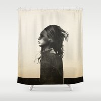 ruben Shower Curtains featuring Unusual Encounter by Ruben Ireland
