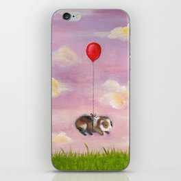 Balloon Ride - Guinea Pig With Balloon iPhone Skin