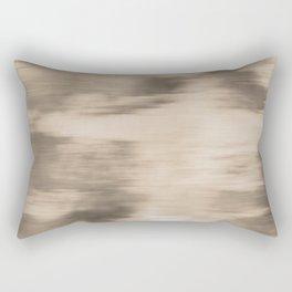 Fusion Abstract Watercolor Blend Pantone Hazelnut / Fluid Art Ink Rectangular Pillow