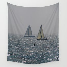 A Lovely Pair of sailboats in Santa Monica California Wall Tapestry