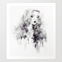 grunge Art Prints featuring Grunge by Sara Eshak