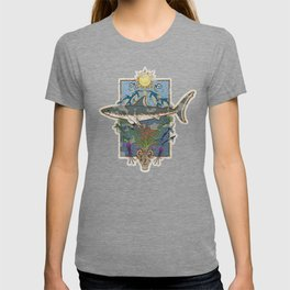 Great White Guardian - Minoan Fresco T-shirt