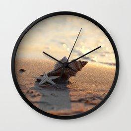 Shell on the sea Wall Clock