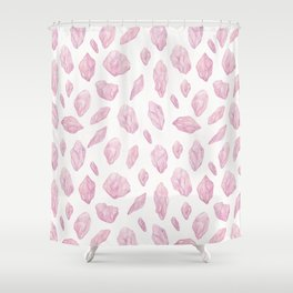 Rose Quartz Fragments Shower Curtain