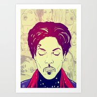 prince Art Prints featuring Prince by Giuseppe Cristiano