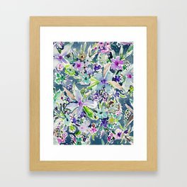 TALIA'S GARDEN Colorful Badass Floral Framed Art Print