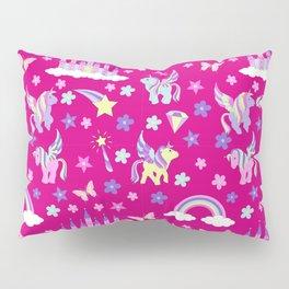 Unicorn, fairy castles, rainbows and magic Pillow Sham