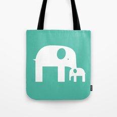 Blue Elephants Tote Bag