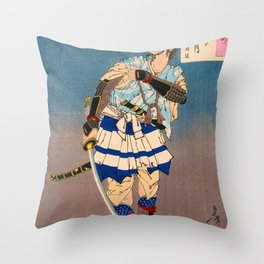 12,000pixel-500dpi - Tsukioka Yoshitoshi - Top Quality Art - SOGA Brother Vengeance Throw Pillow