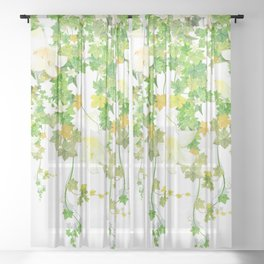 Watercolor Ivy Sheer Curtain
