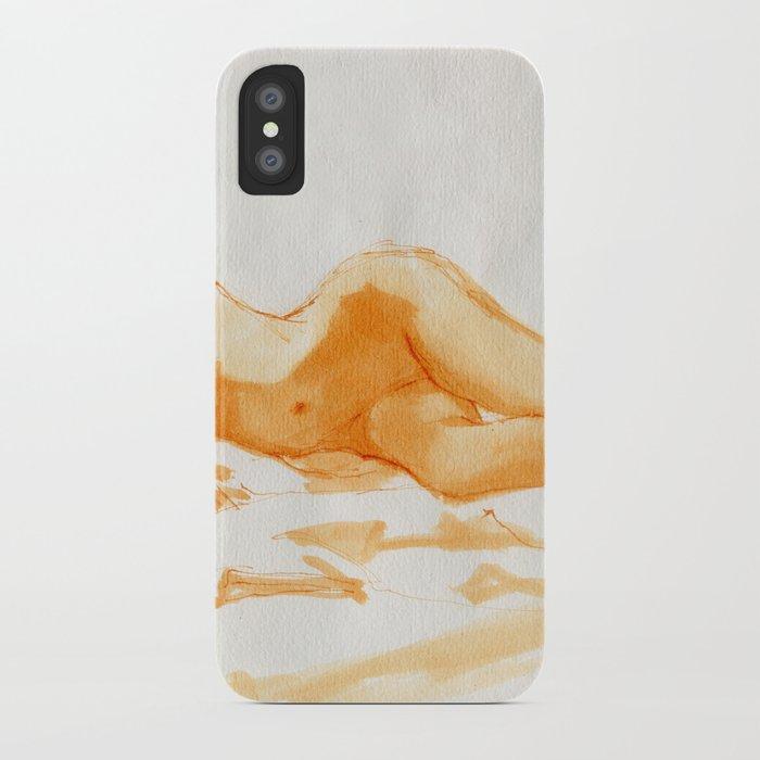 Reclining nude iPhone Case