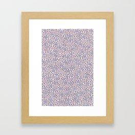 Ditsy Flora Lilac Framed Art Print