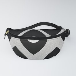 Black and White Pattern Fish Eye Design Fanny Pack
