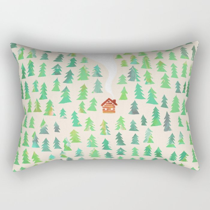 Alone in the woods Rectangular Pillow