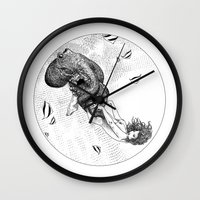 apollonia Wall Clocks featuring asc 438 - L'attachement pathologique (The stalking) by From Apollonia with Love