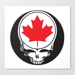 Canadian Steal Your Face Canvas Print