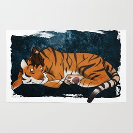 Tiger and the Monkey Rug