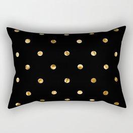 Black & Gold Rectangular Pillow
