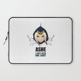 Ashe w/ quote Laptop Sleeve