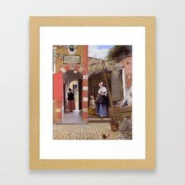 """Pieter de Hooch """"The Courtyard of a House in Delft"""" Framed Art Print"""
