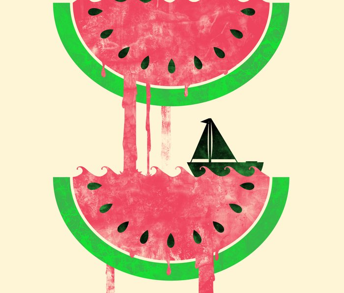 Watermelon falls Final Metal Travel Mug