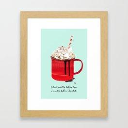 Fall in Chocolate Framed Art Print