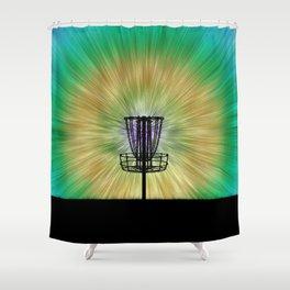 Tie Dye Disc Golf Basket Shower Curtain