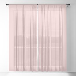 Millennial Pink Solid Sheer Curtain