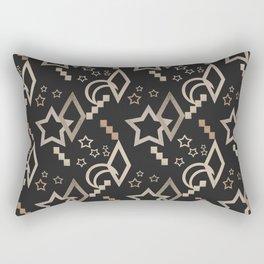 Geometric abstract pattern . Star grunge . Rectangular Pillow