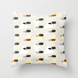 Pucks & Geometries #society6 #hockey #sport Throw Pillow